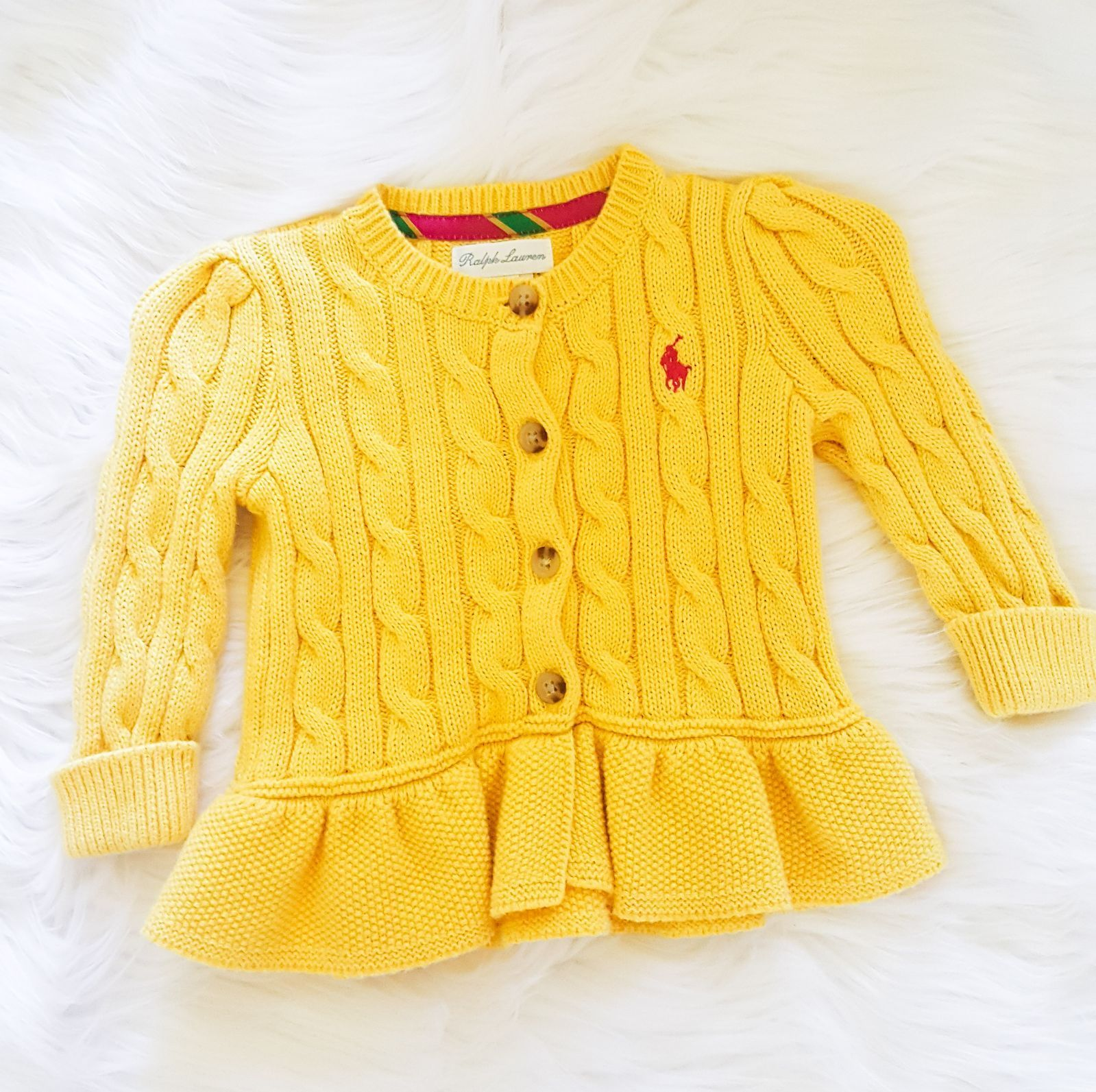 Ralph Lauren Yellow Knit Sweater - Mercari: BUY & SELL THINGS YOU LOVE