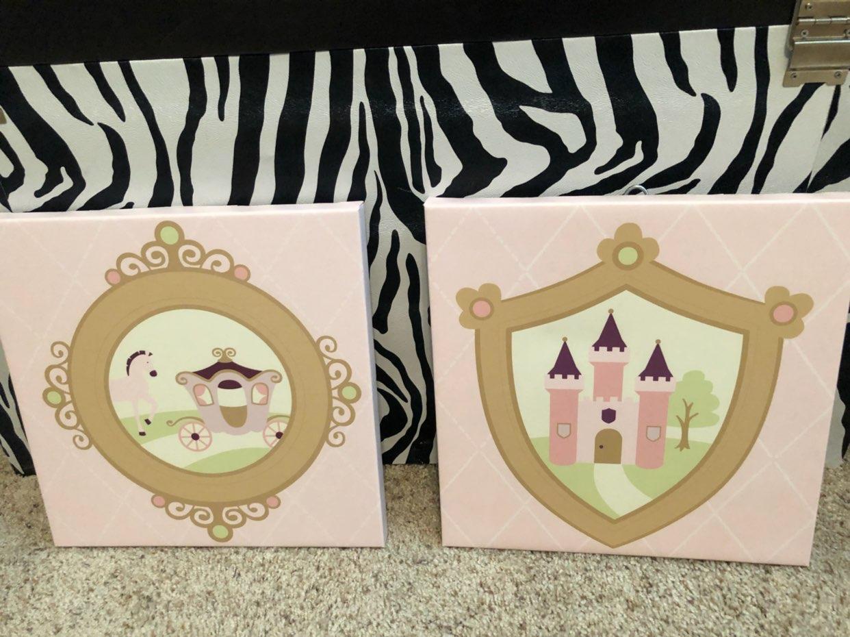 New 2 pcs princess castle wall frame