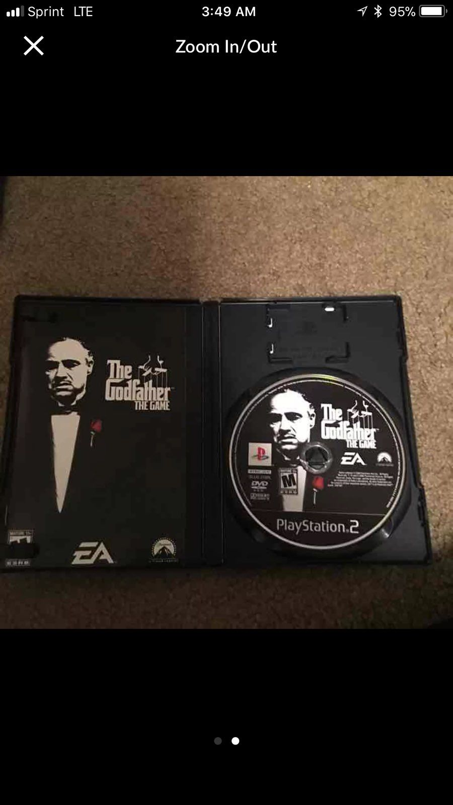 The Godfather The Game Playstation 2 PS2