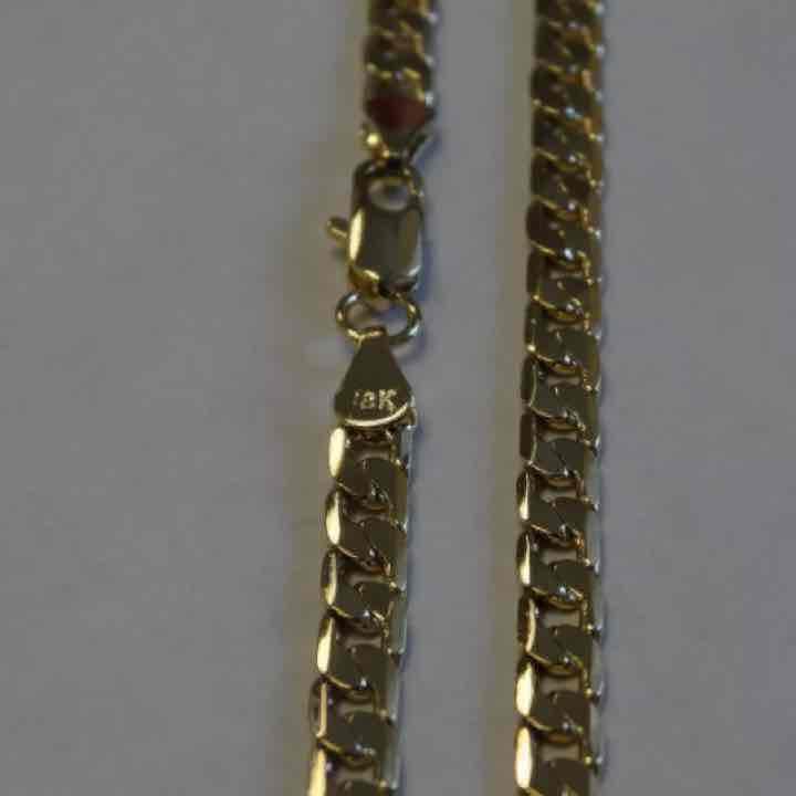 18K Gold Cuban chain necklace