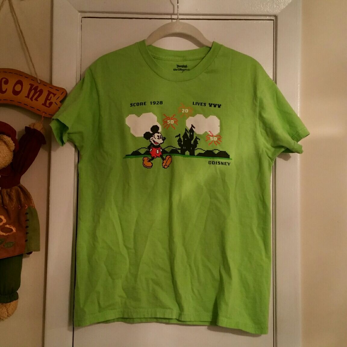 Green Disney Mickey Mouse tee Women's M