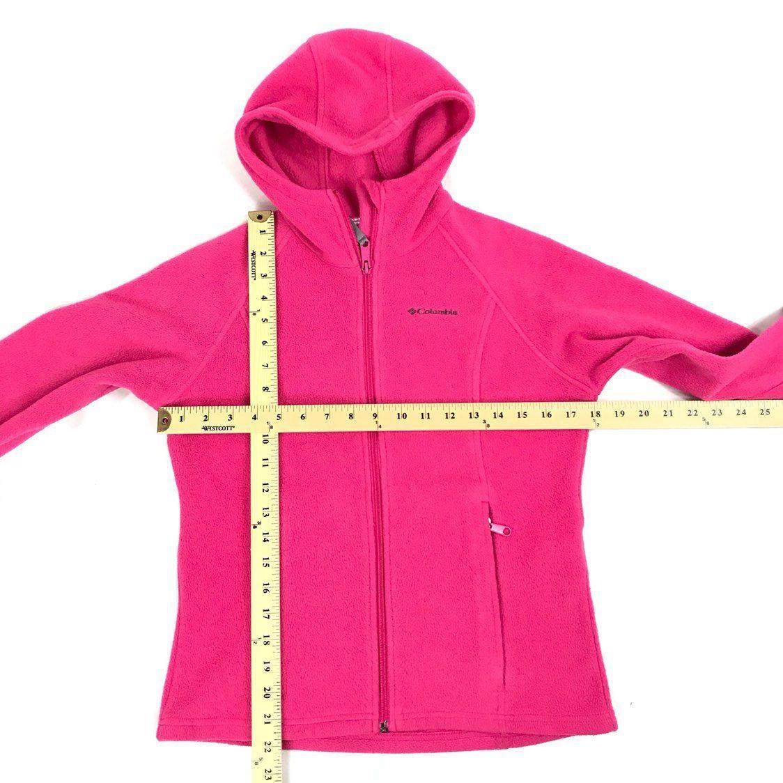 Columbia Pink Hooded Fleece Sweater L/S - Mercari: BUY & SELL ...