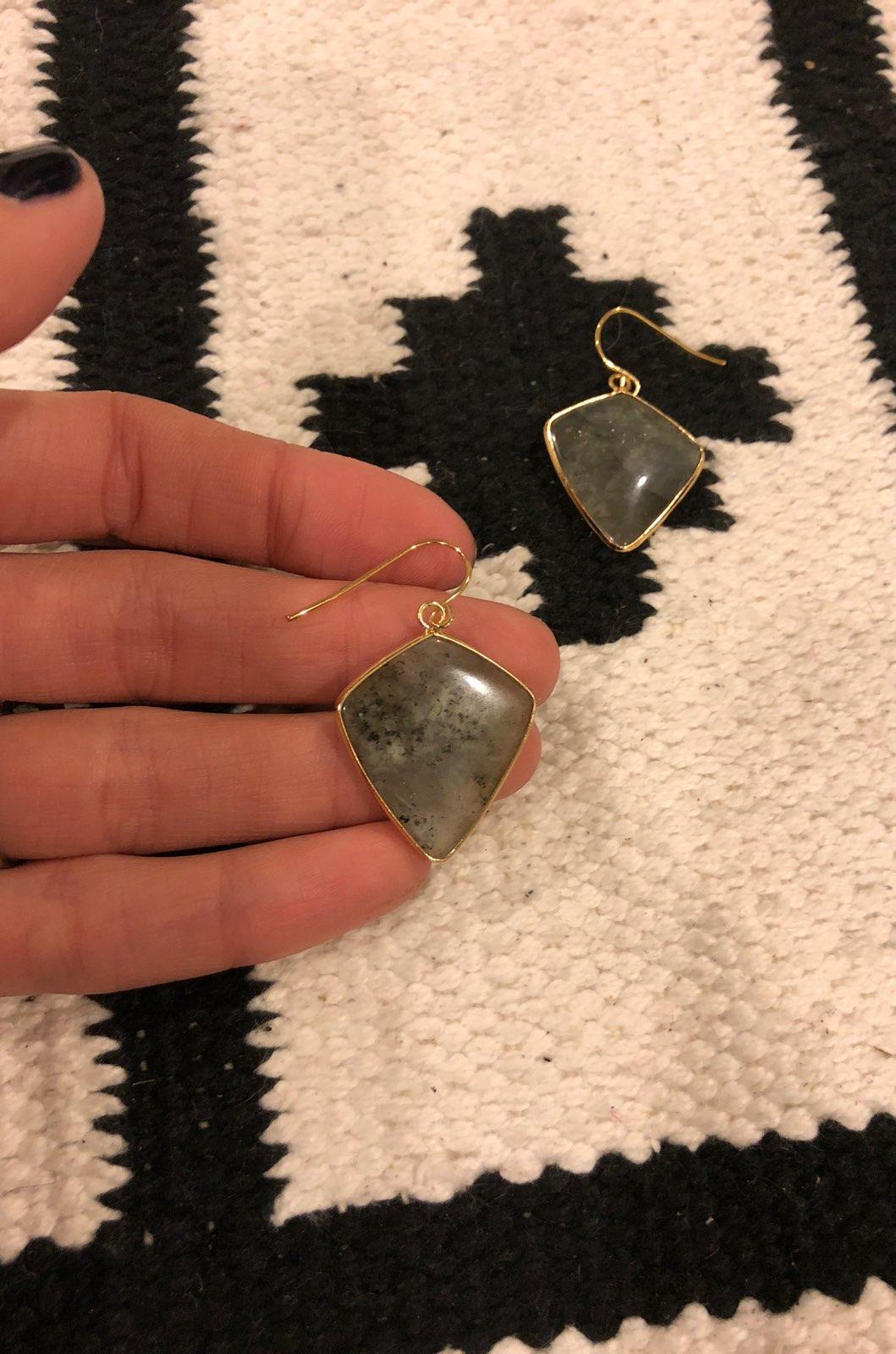 New Gray Stone Earrings