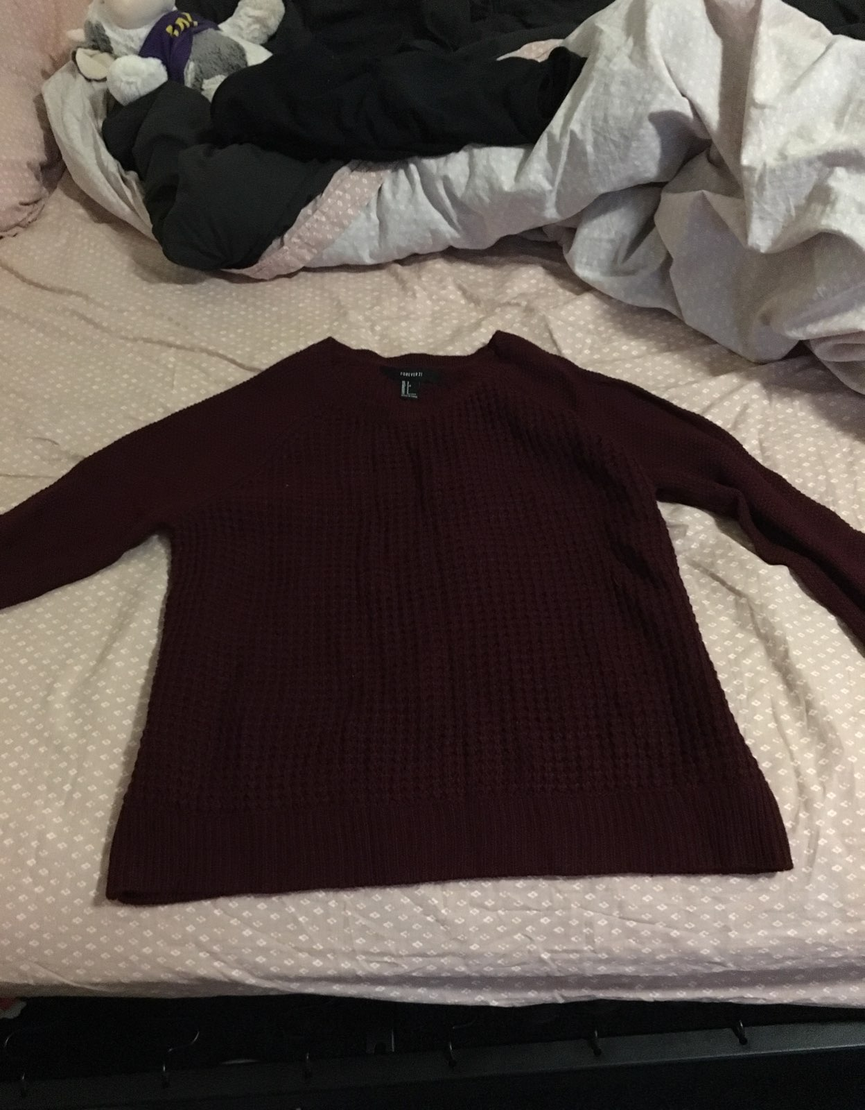 NWOT F21 Dark Maroon Sweater - Mercari: BUY & SELL THINGS YOU LOVE