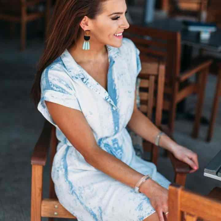 Bella Dahl chambray shirt dress