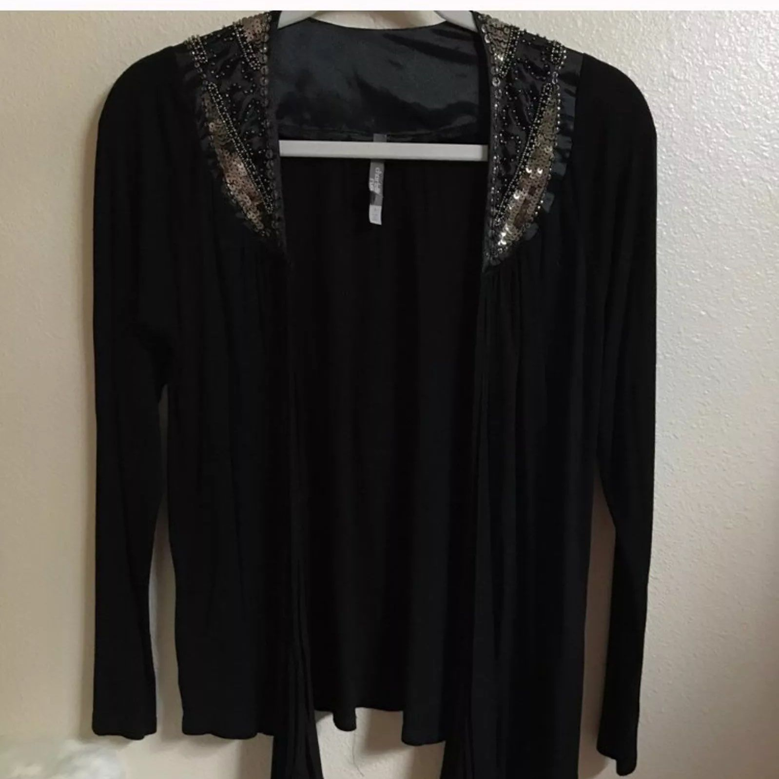 Black Cardigan With Sequins - Mercari: BUY & SELL THINGS YOU LOVE