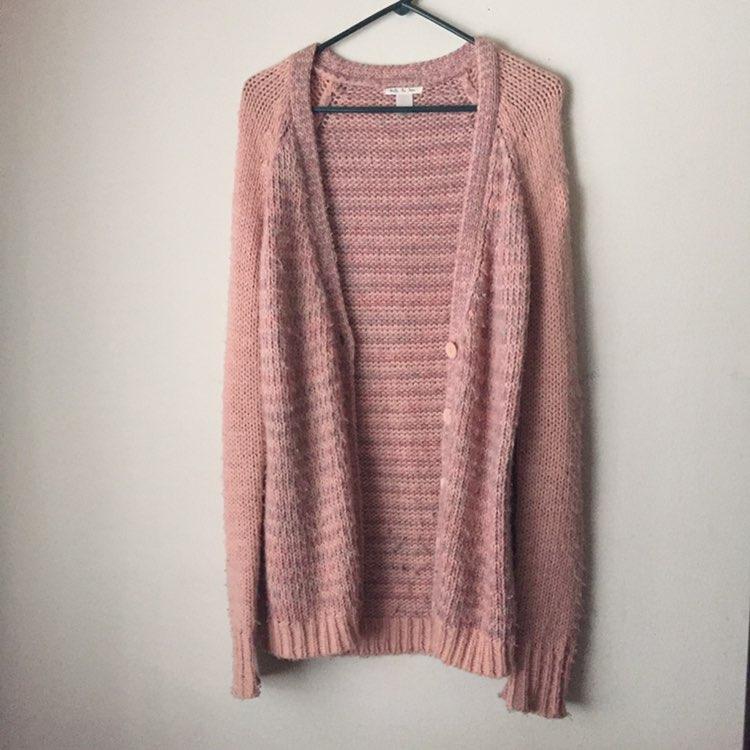 Pink Chunky Cardigan - Mercari: BUY & SELL THINGS YOU LOVE
