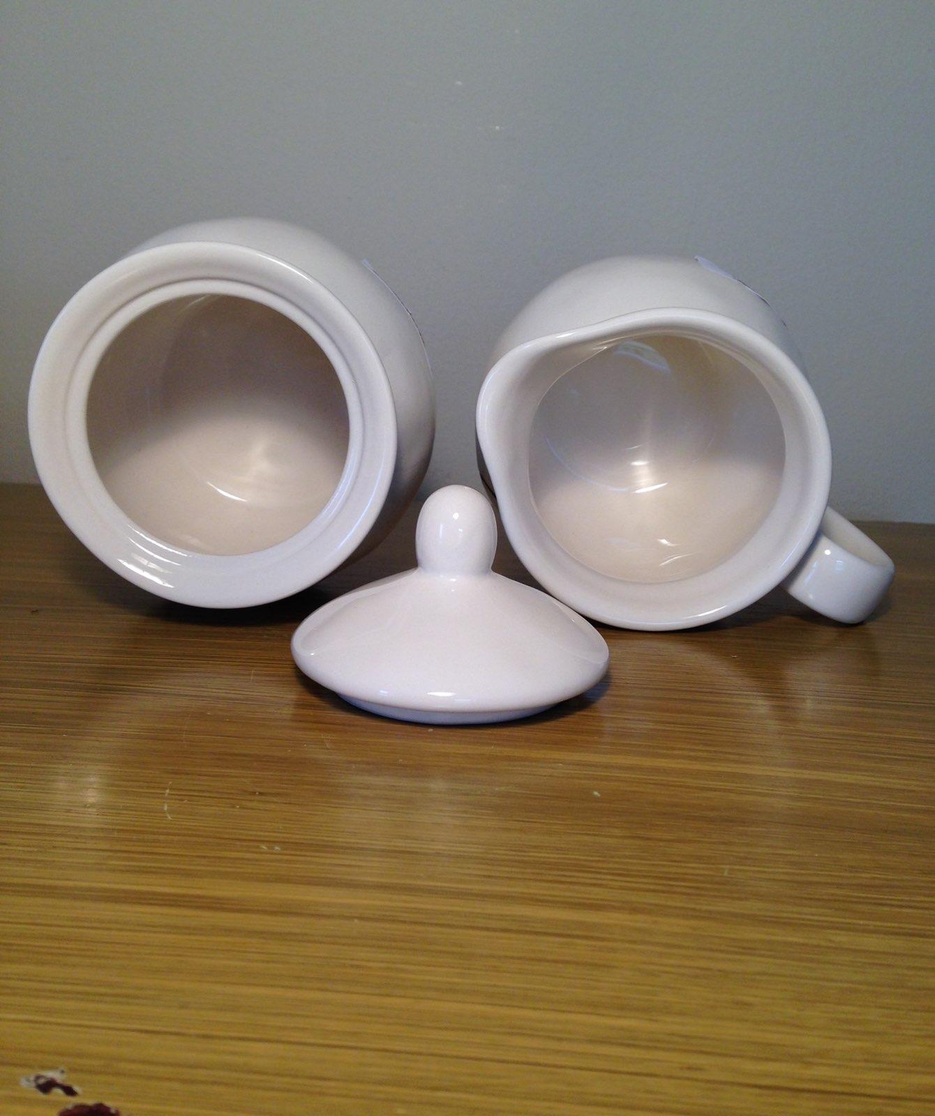 Rae Dunn Cream And Sugar Bowl Set
