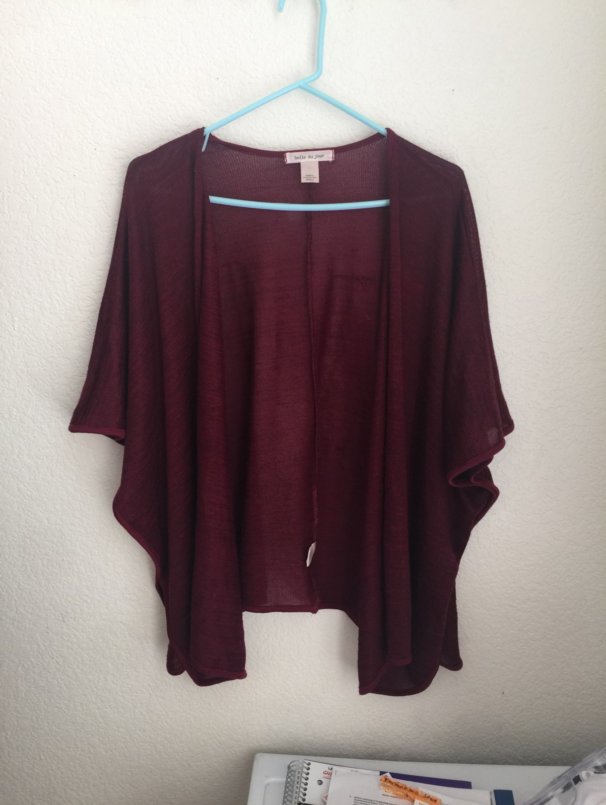 Maroon Kimono Cardigan - Mercari: BUY & SELL THINGS YOU LOVE