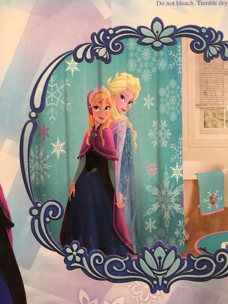 NEW Disney Frozen Shower Curtain Xmas