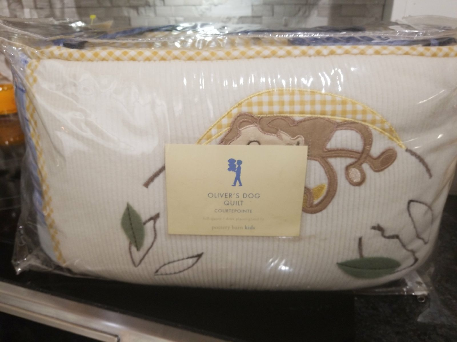 NEW Pottery Barn Kids Oliver Dog quilt