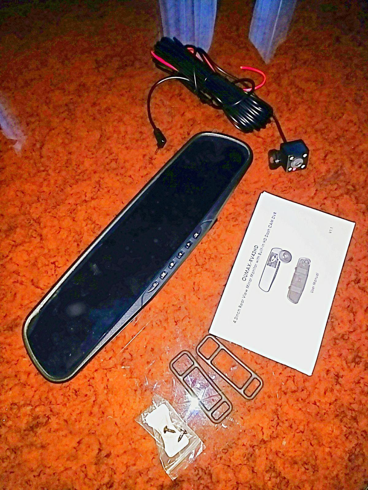 LCD Dash Cam Rear View Mirror