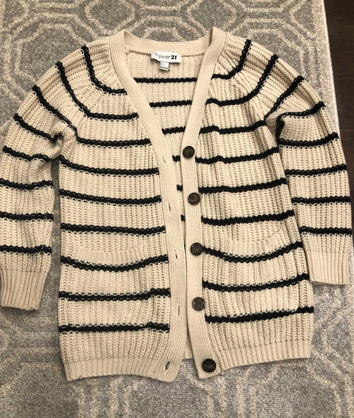 Forever 21 Chunky Cardigan Sweater L - Mercari: BUY & SELL THINGS ...