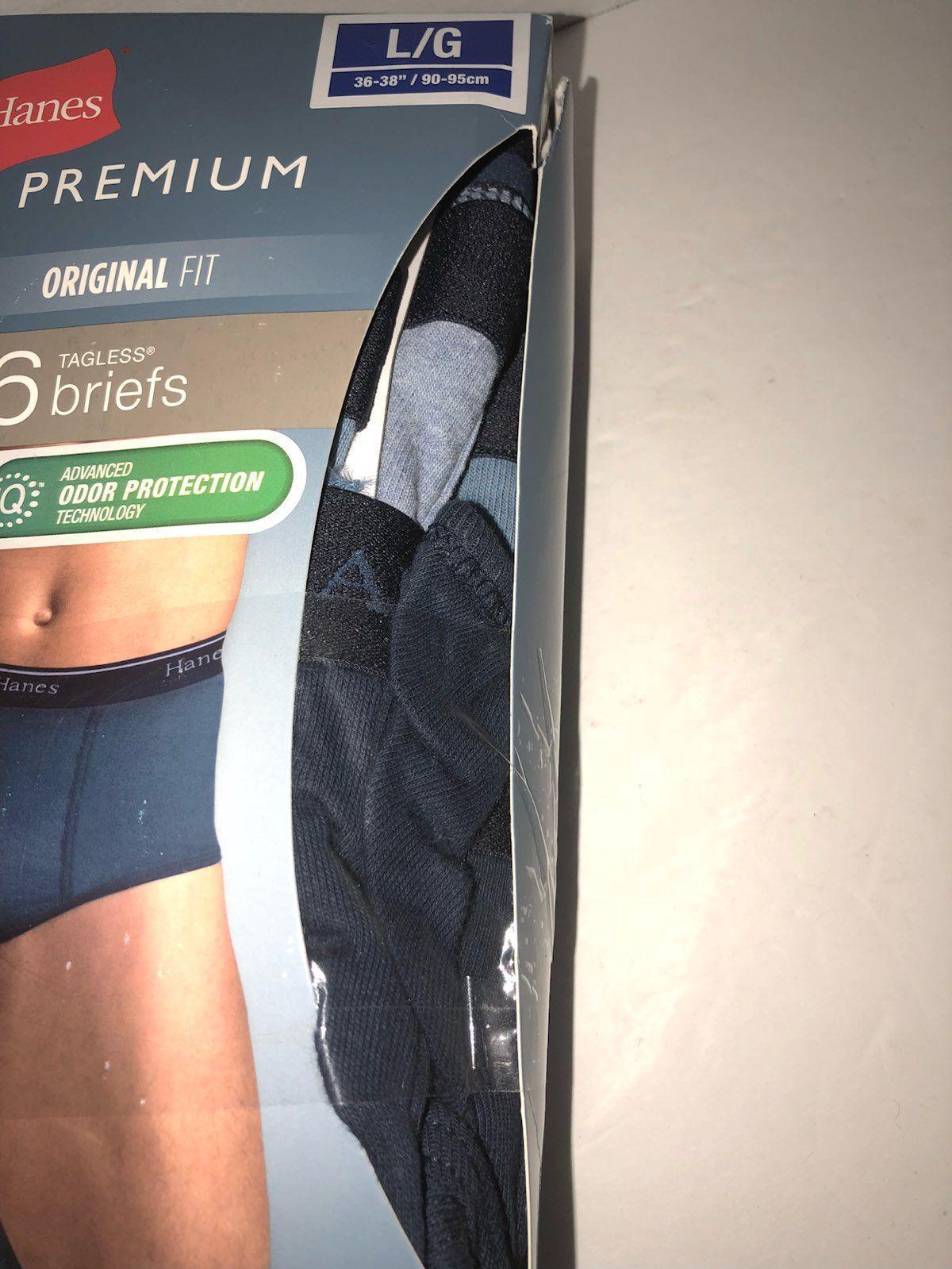 Large Hanes Premium Briefs 6 Pack