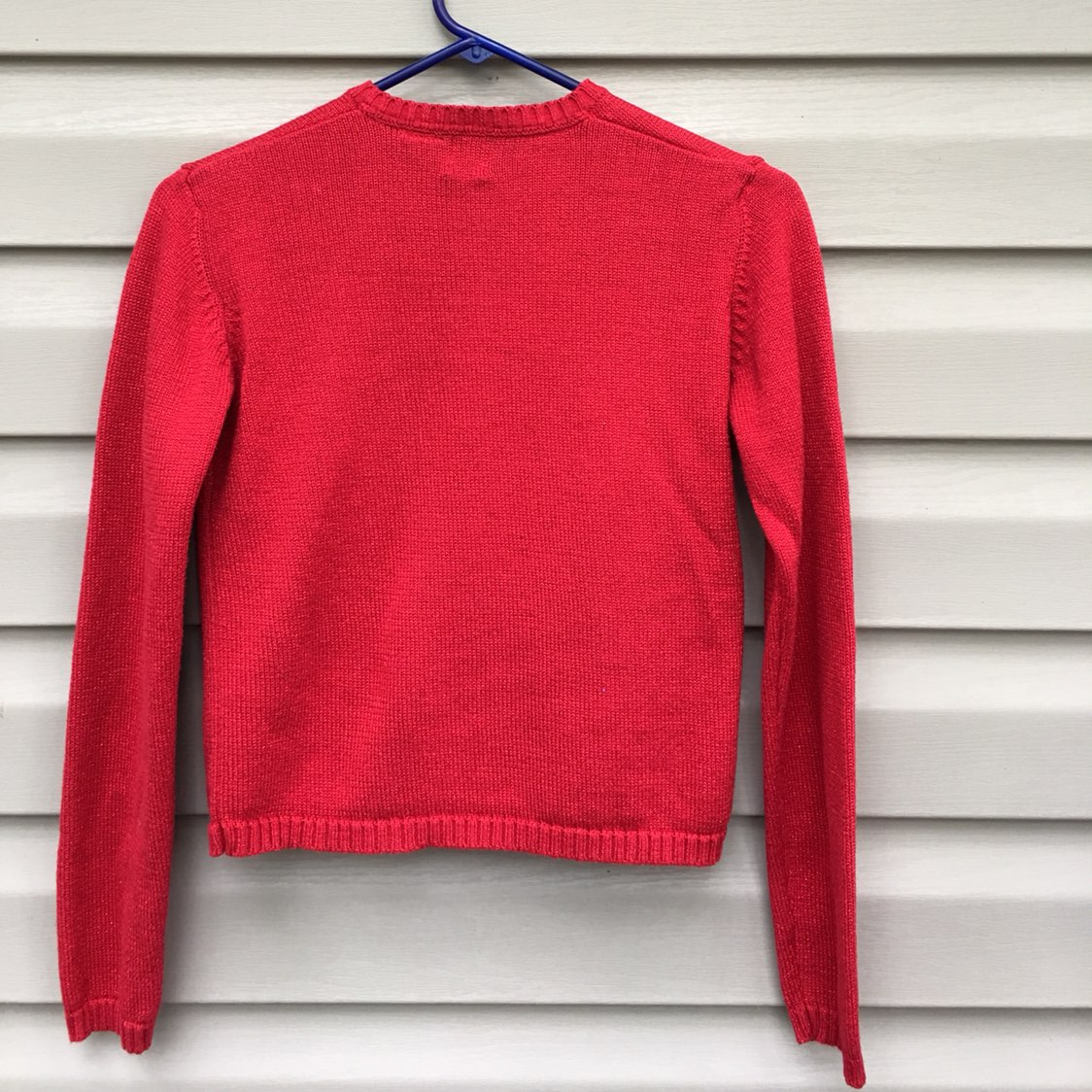 Gap Girls Red Sparkly Cardigan Sweater - Mercari: BUY & SELL ...