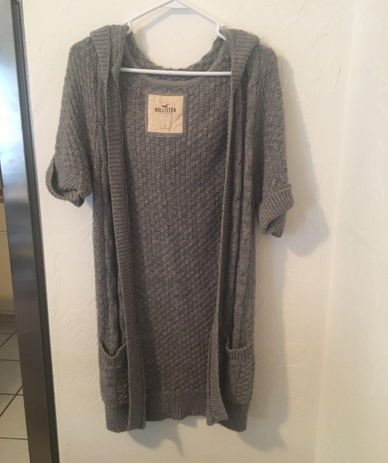 Gray Short Sleeve Cardigan Size Small - Mercari: BUY & SELL THINGS ...