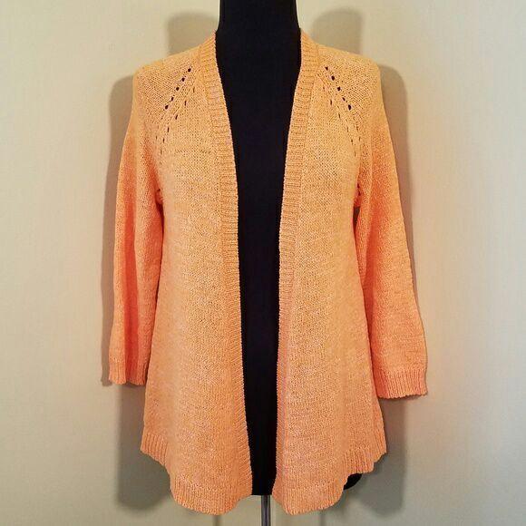 Orange Open Front Cardigan, Medium - Mercari: BUY & SELL THINGS ...