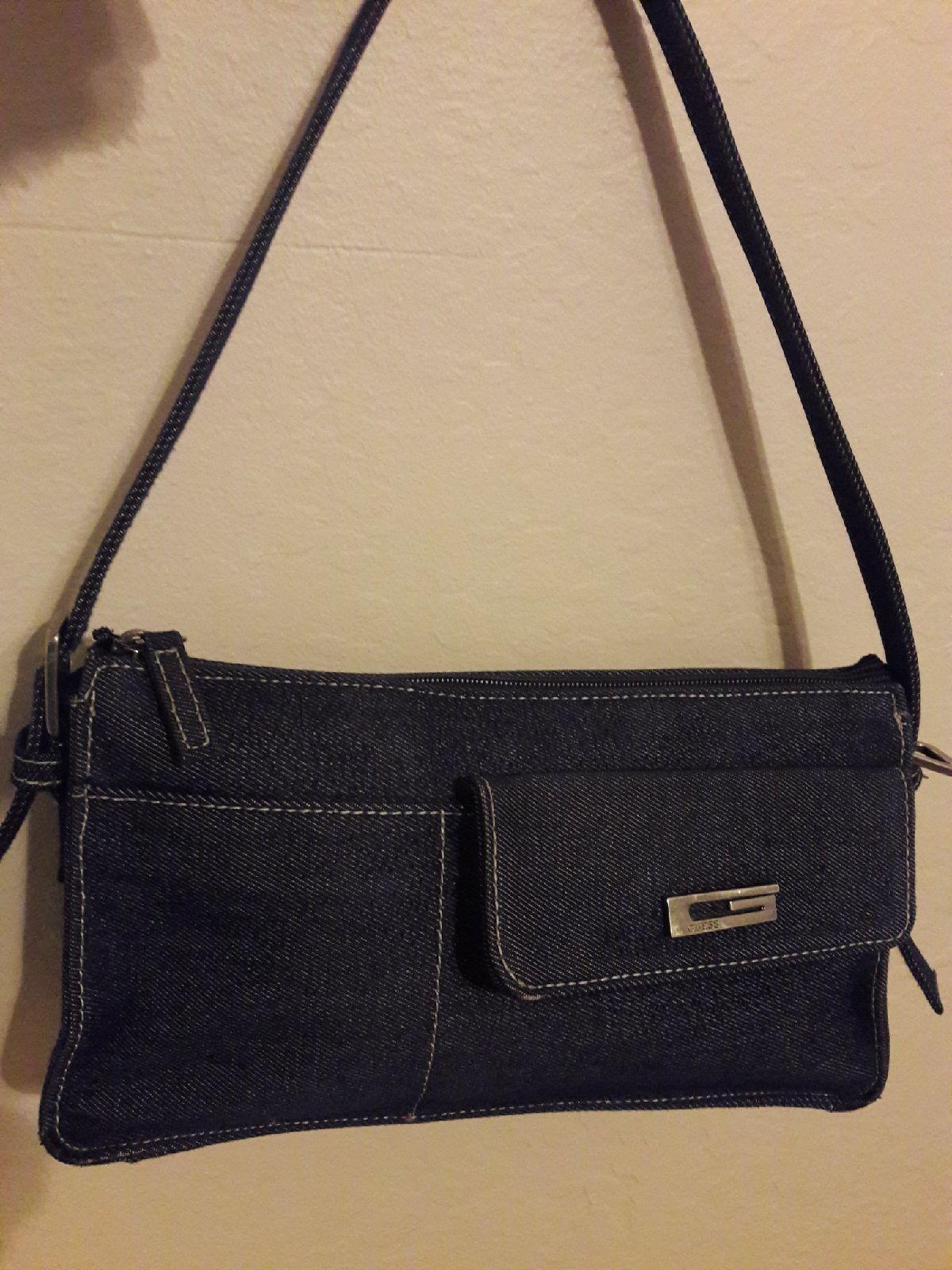 Guess Women Denim Handbag Carry Bag