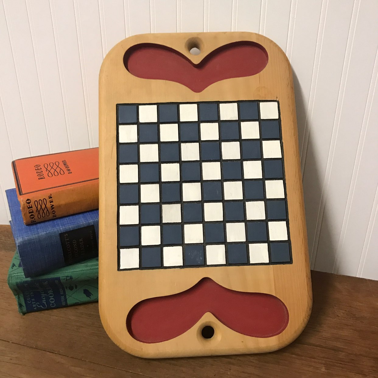 Primitive Country Wood Checkerboard Wall