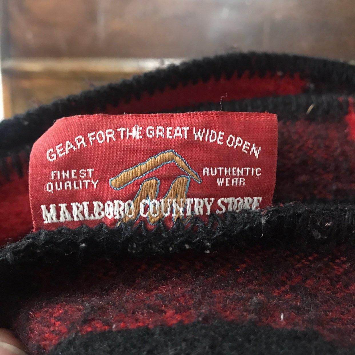 Vintage Red Black Plaid Wool Blanket