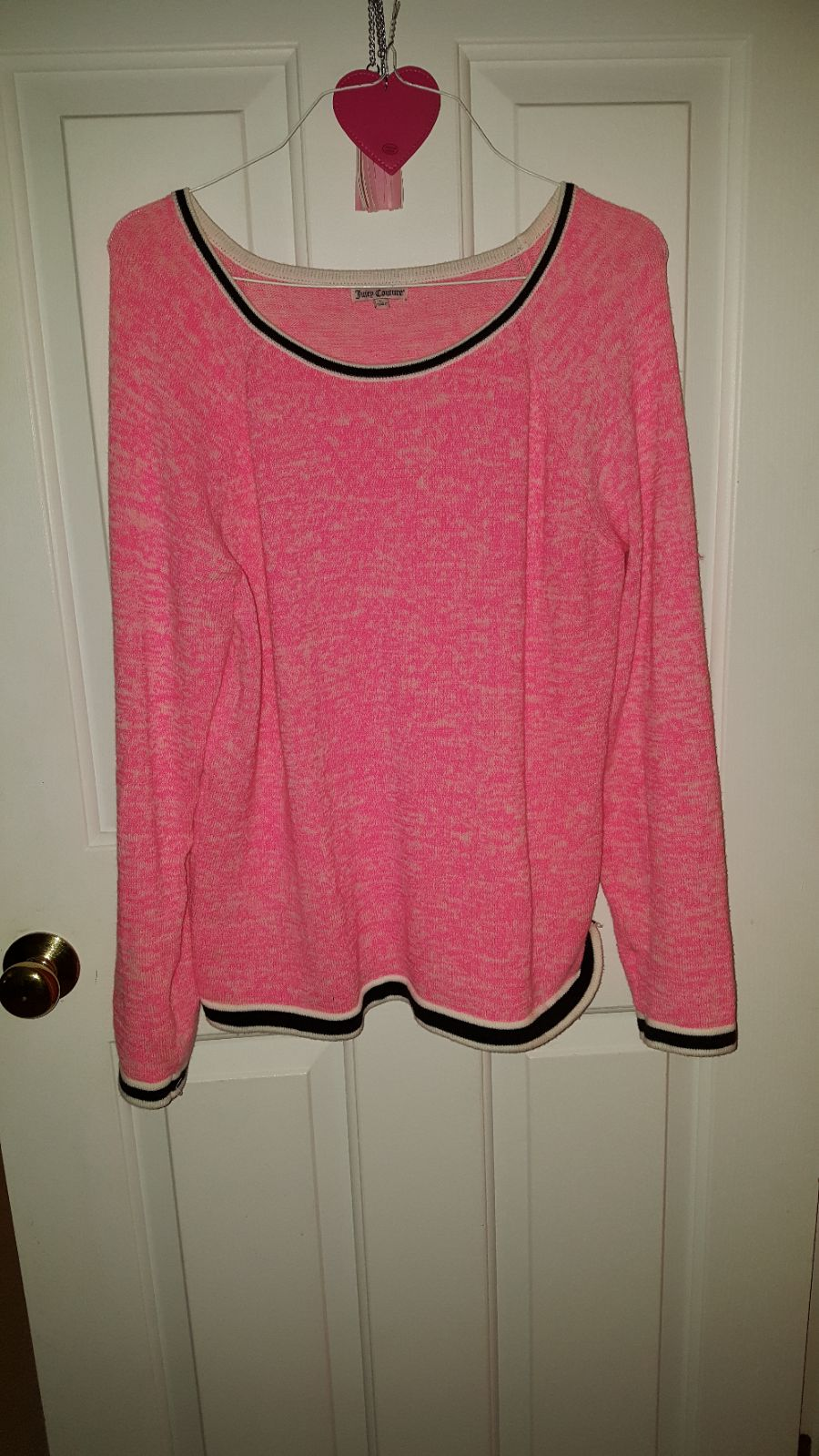 Hot pink sweater Sz L - Mercari: BUY & SELL THINGS YOU LOVE