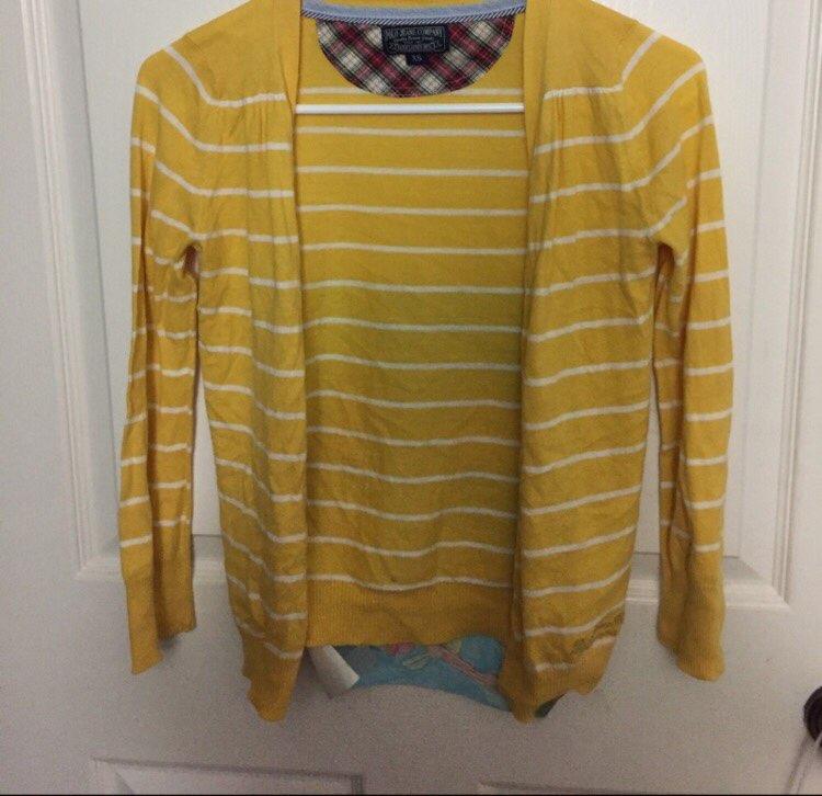 Ralph Lauren Yellow Cardigan - Mercari: BUY & SELL THINGS YOU LOVE