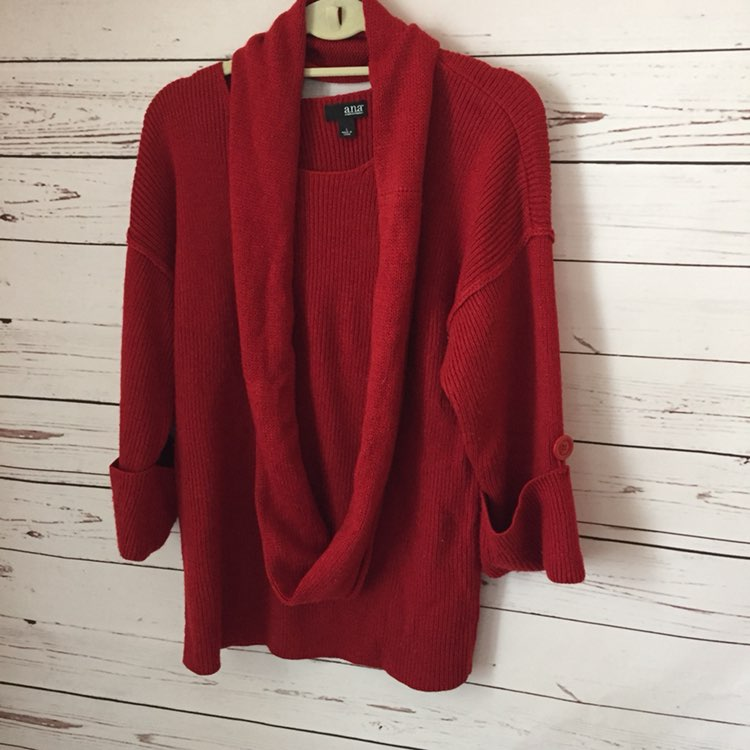 A.n.a. Red Sweater Large L Kohl's - Mercari: BUY & SELL THINGS YOU ...