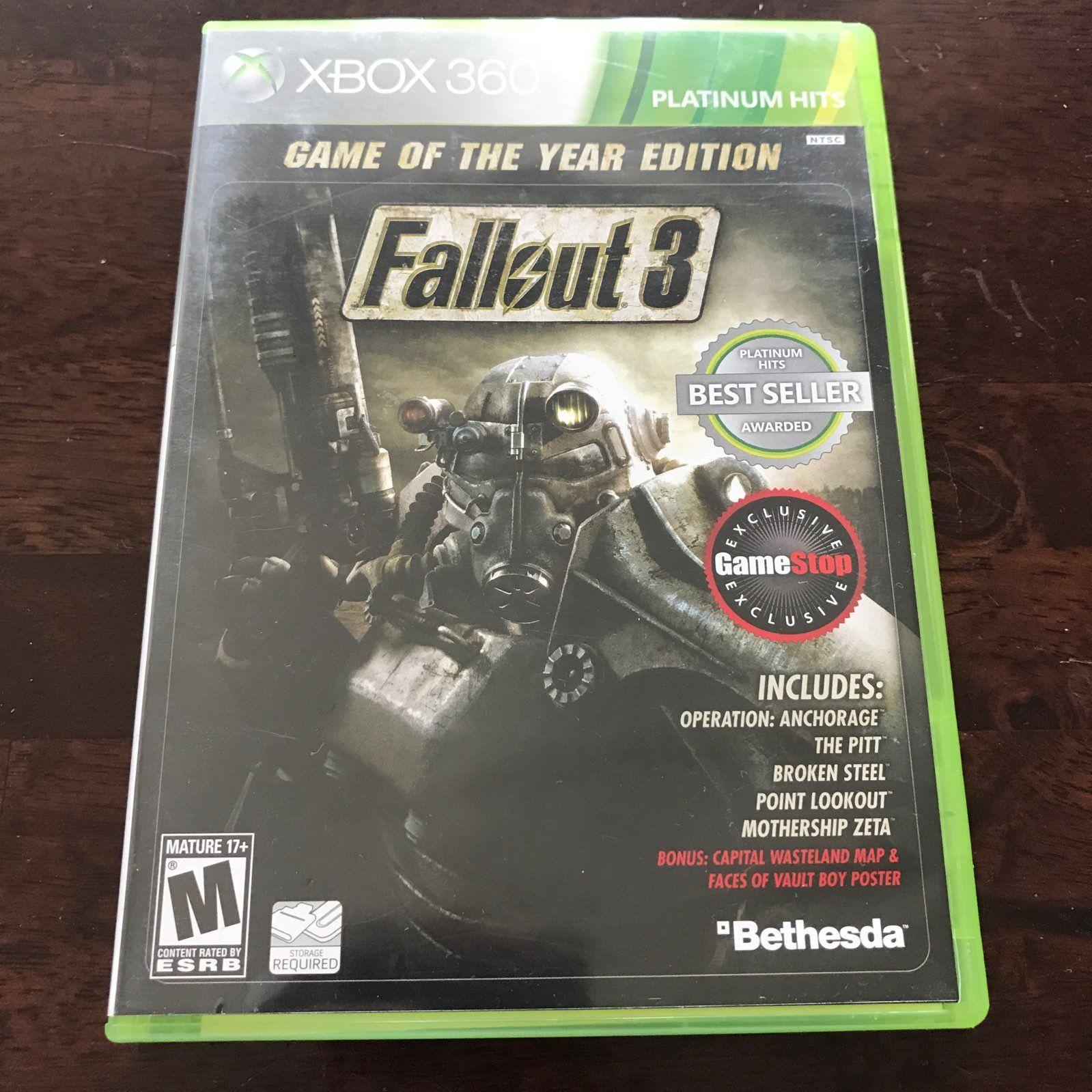 Fallout 3 Xbox 360 GOTY GameStop edition Mercari BUY SELL