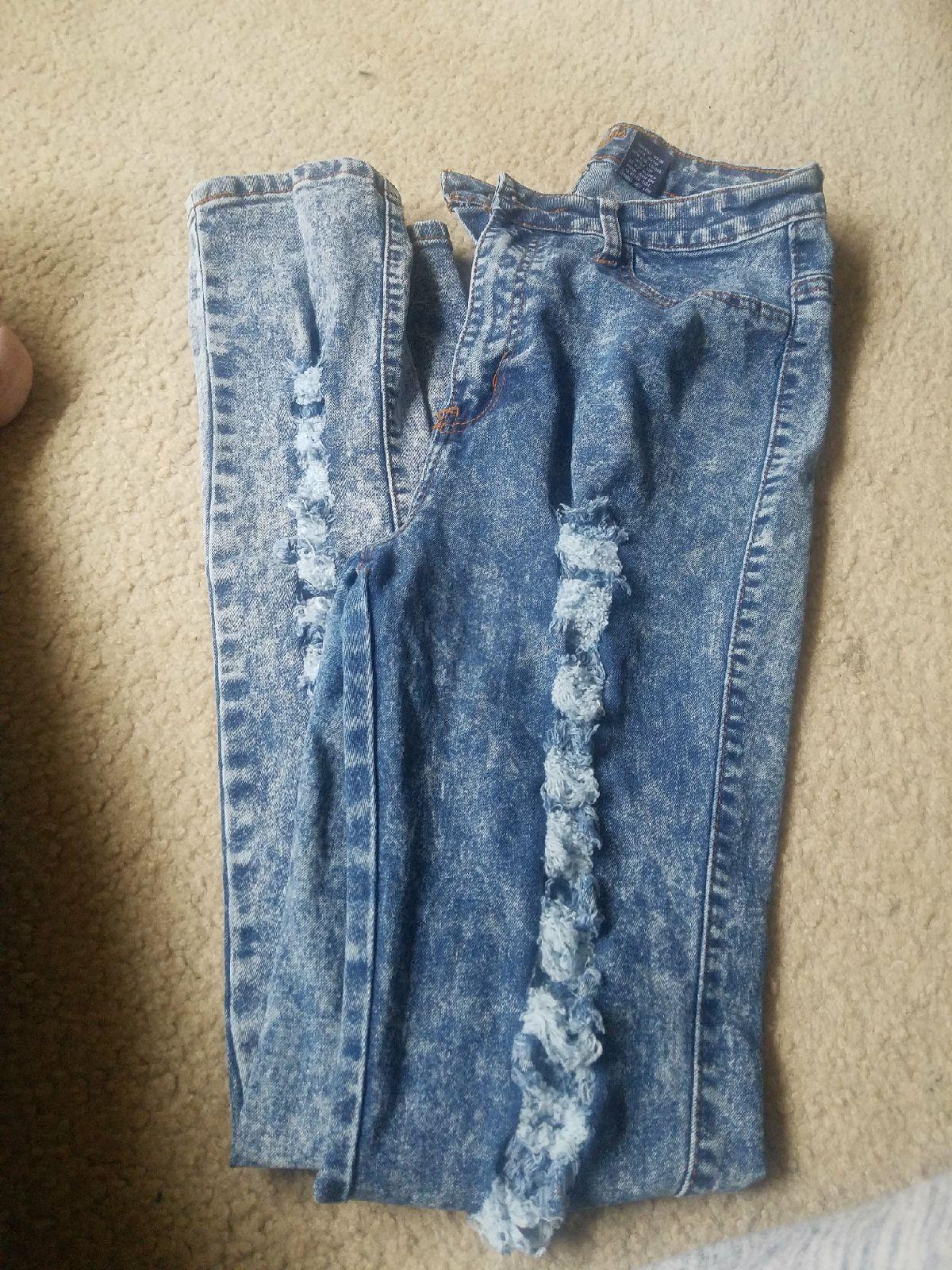 Womens High waist Distressed Skinny Jean