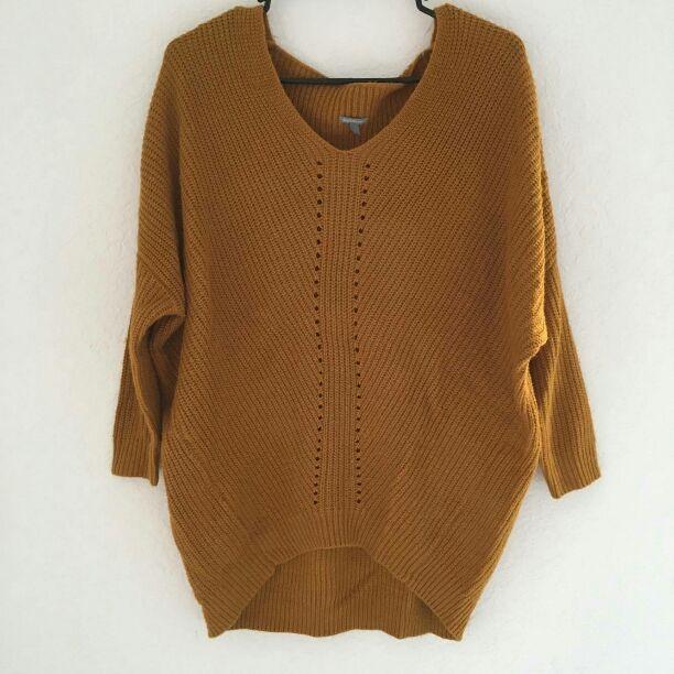 Oversized Mustard Sweater - Mercari: BUY & SELL THINGS YOU LOVE