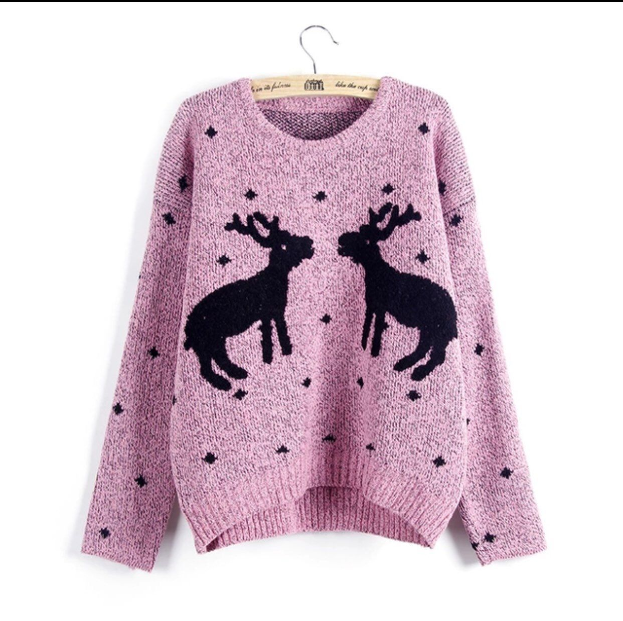 Cotton Reindeer Holiday Sweater - Mercari: BUY & SELL THINGS YOU LOVE