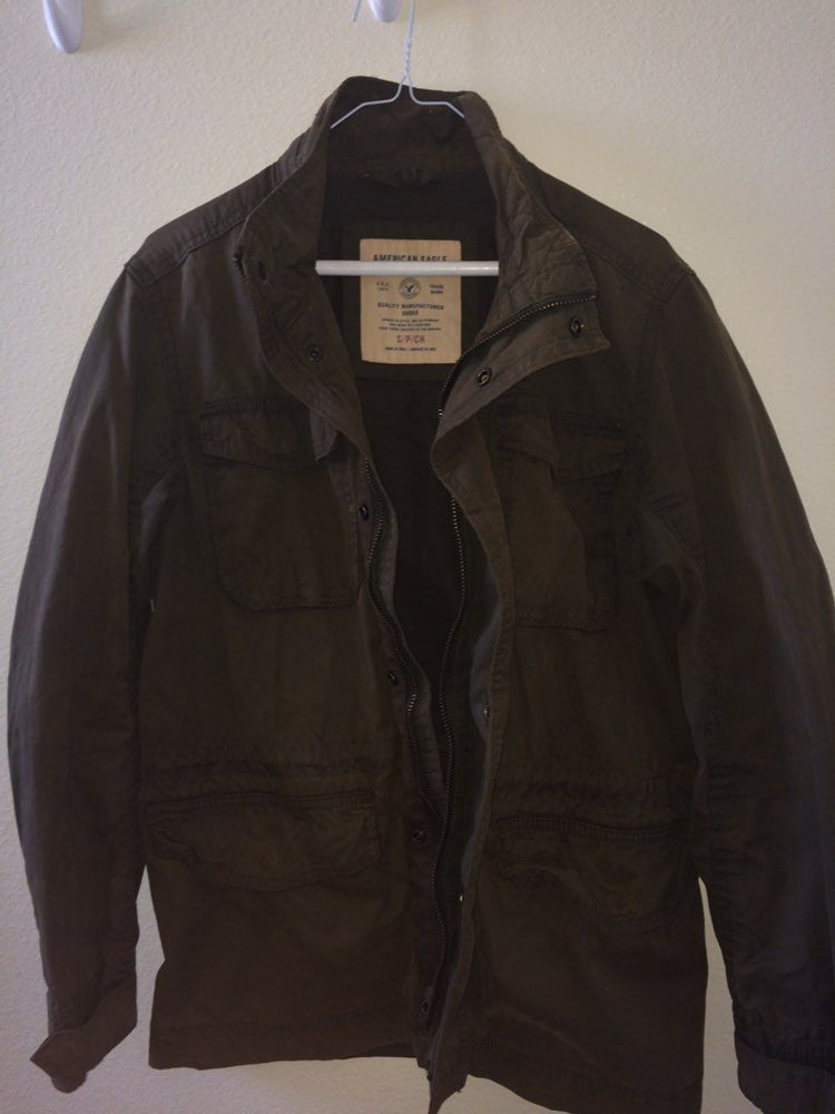 American eagle military jacket mens