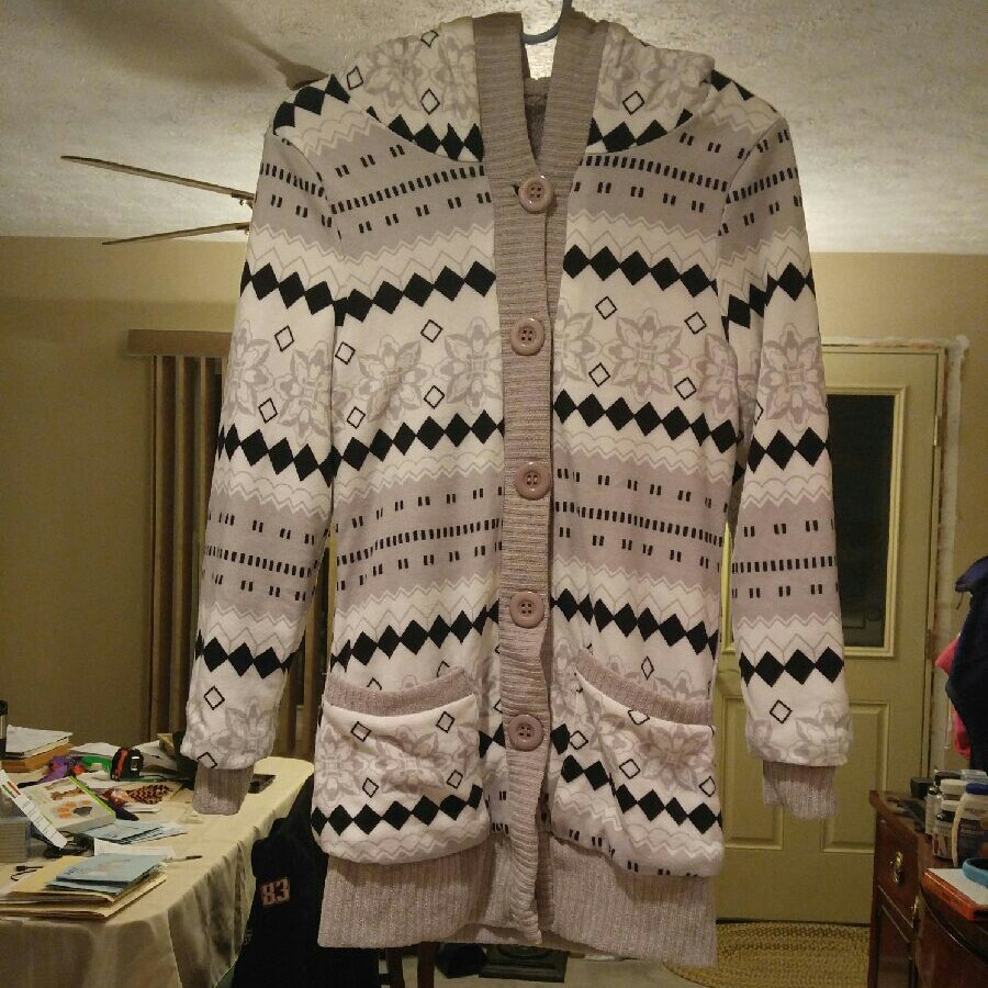 Hooded Button-Up Sweater Cardigan - Mercari: BUY & SELL THINGS YOU ...