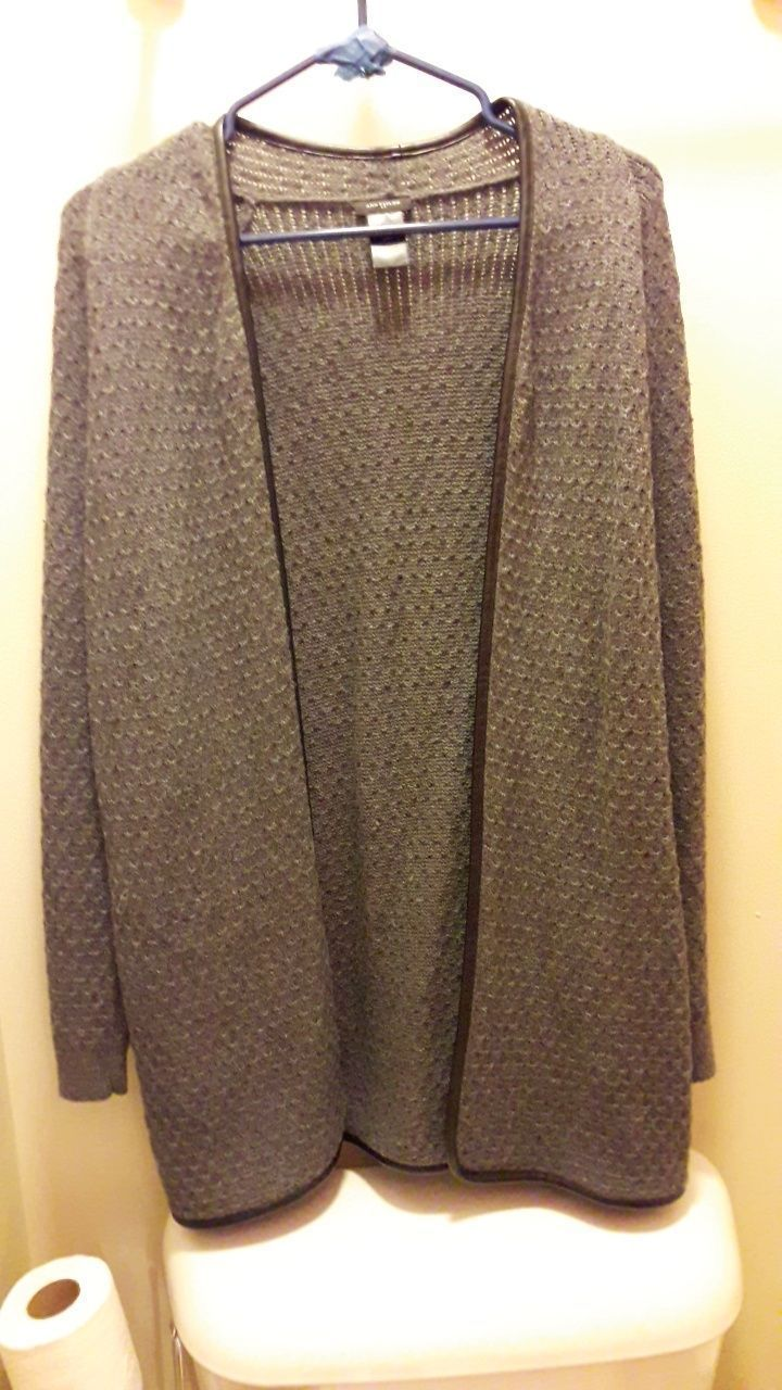 Dark Grey Cotton Knit Long Cardigan - Mercari: BUY & SELL THINGS ...
