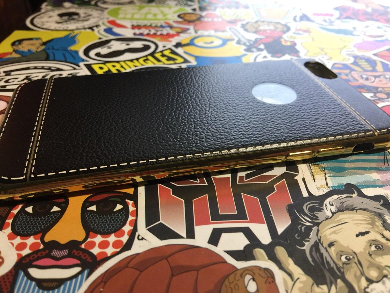 Leather Silicone iPhone 6 Plus Case