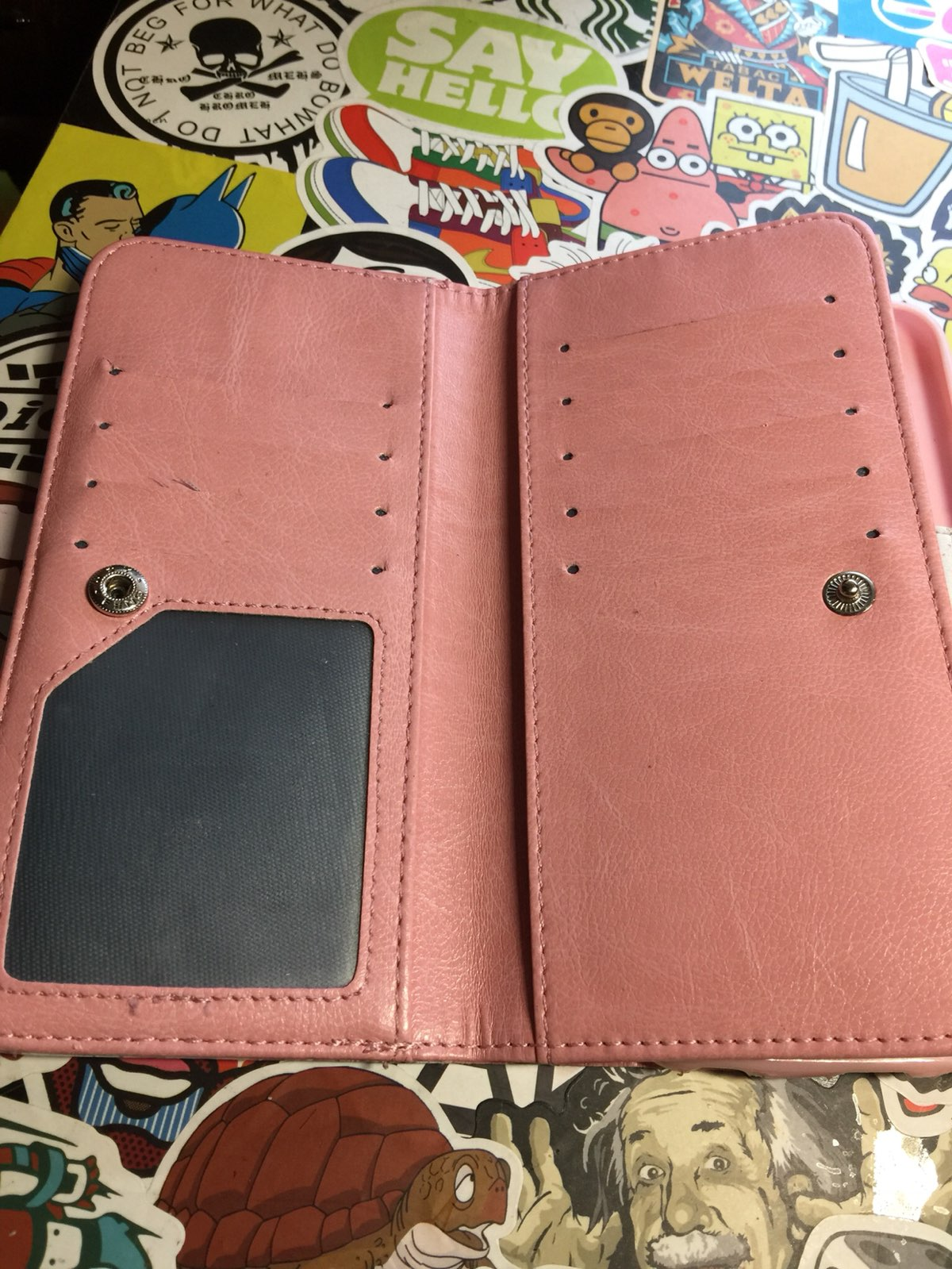 Leather iPhone 6 Plus Wallet Case