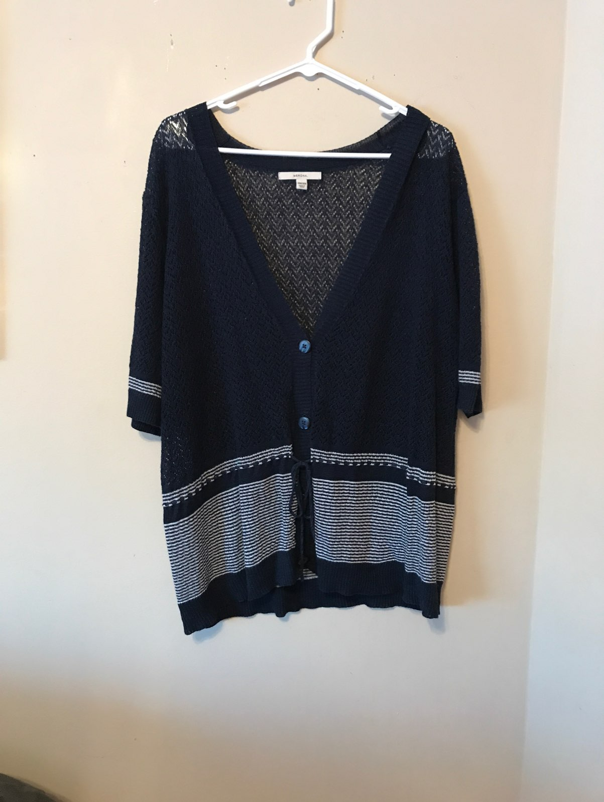 Plus Size Navy Short Sleeve Cardigan - Mercari: BUY & SELL THINGS ...