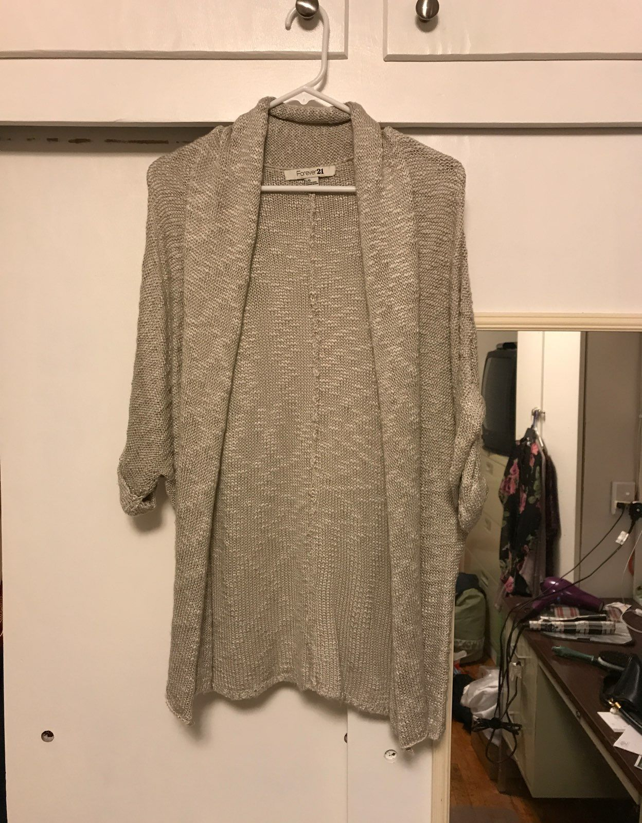 Soft Silvery White Short Sleeve Cardigan - Mercari: BUY & SELL ...