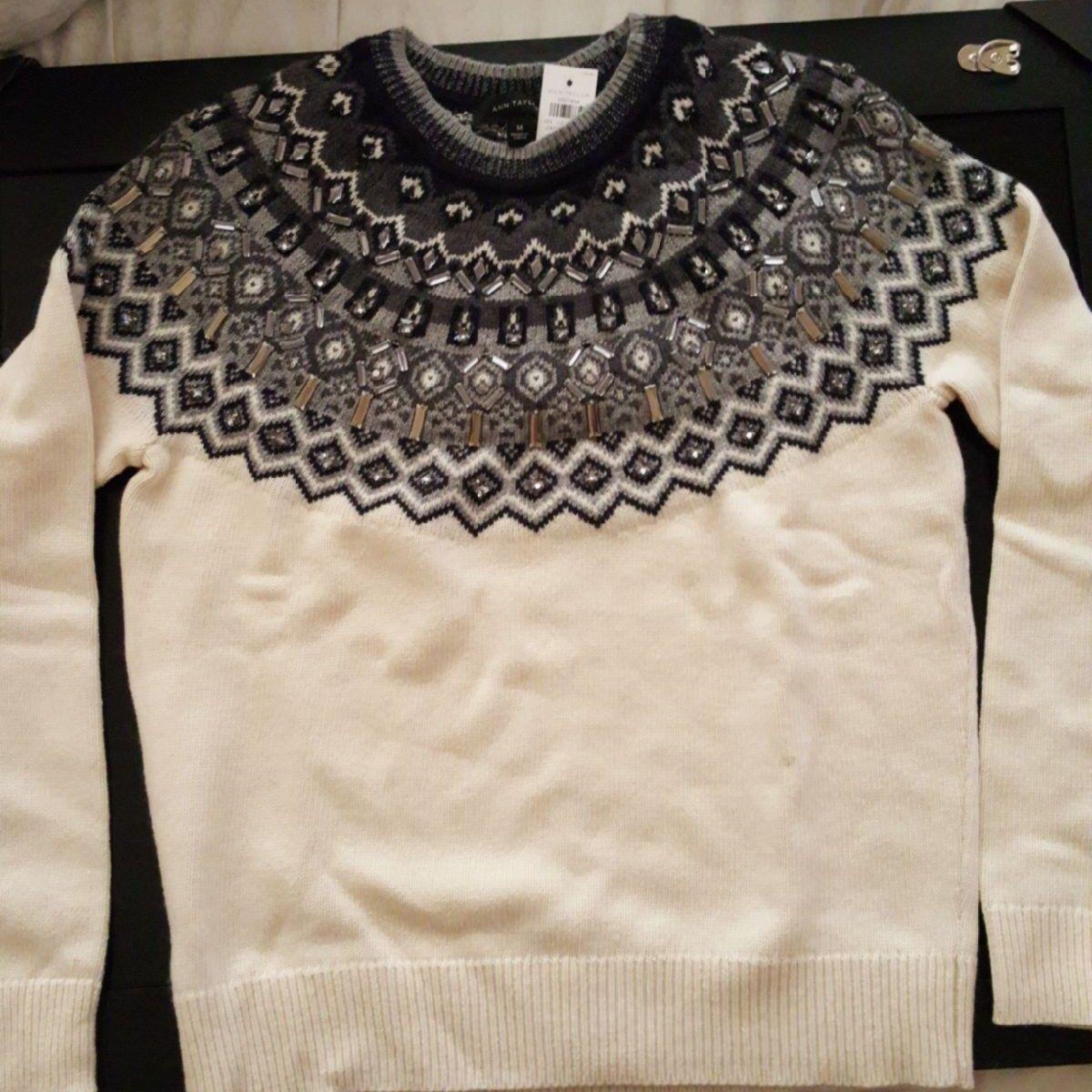 Ann Taylor Fair Isle sweater w/ embell. - Mercari: BUY & SELL ...