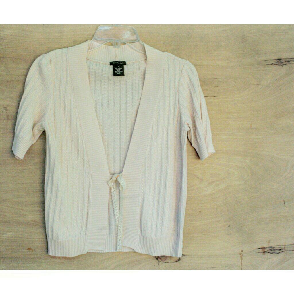 Calvin Klein short sleeve Cardigan - Mercari: BUY & SELL THINGS ...