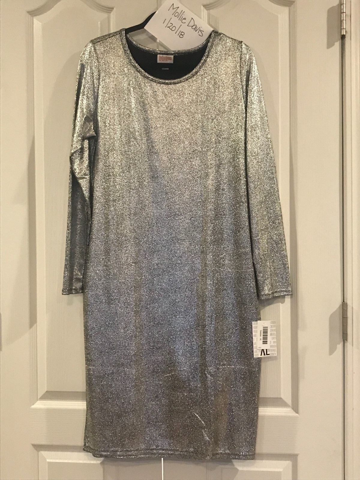 f7c26752233 LuLaRoe Debbie Silver XL New With Tags - Mercari  The Selling App