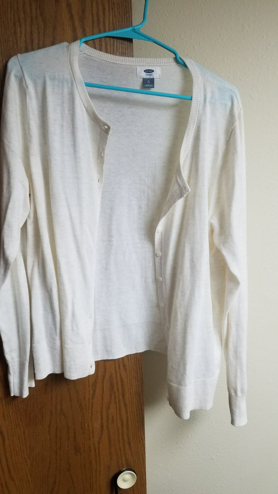 White cardigan button up sweater - Mercari: BUY & SELL THINGS YOU LOVE