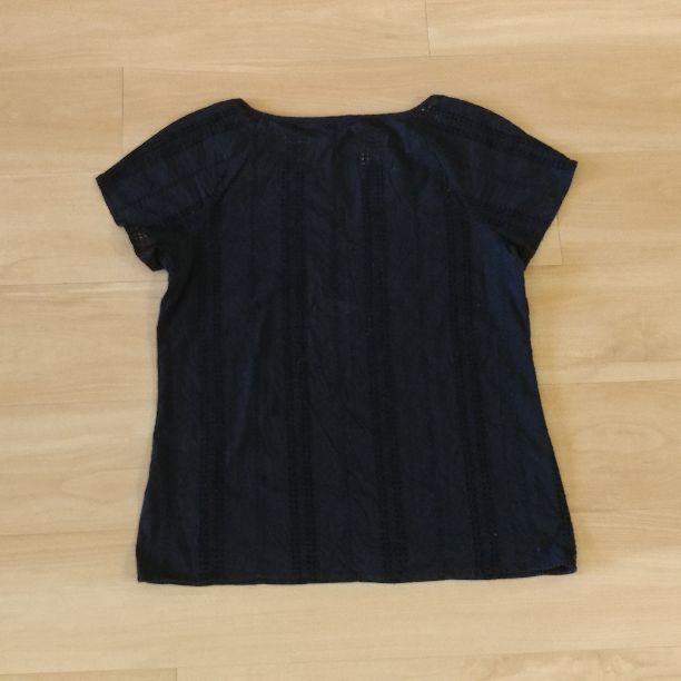 J.Crew Top Size S Short Sleeve Black