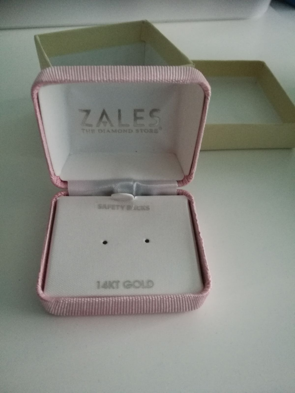 Zales Earstuds Earring Gift Box Pink Mercari Things