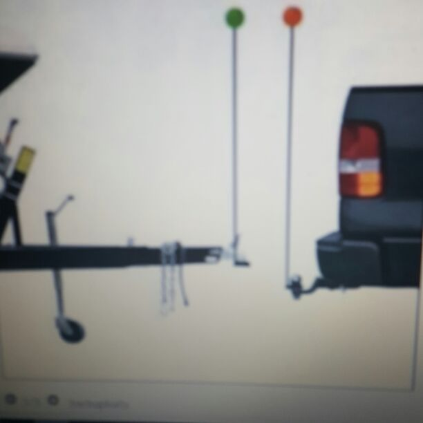 Single person trailer loader backup ball