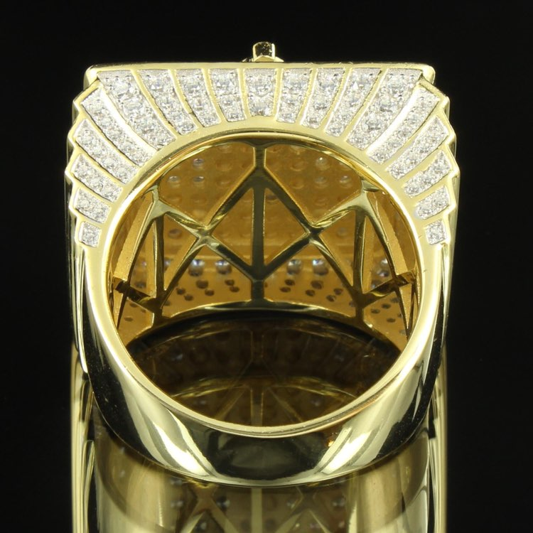 14k Gold Tone Freemason Masonic G Ring