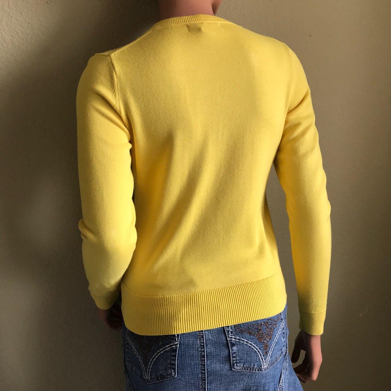 Banana Republic Yellow Button Up Cardi - Mercari: BUY & SELL ...