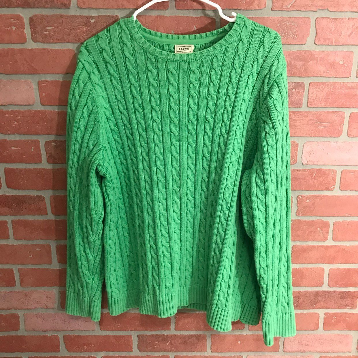 LL Bean Cable Knit Sweater - Mercari: BUY & SELL THINGS YOU LOVE