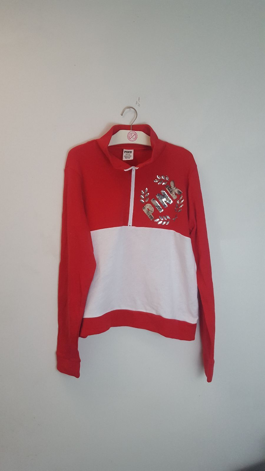 NWOT VS PINK L Bling Half Zip Sweater - Mercari: BUY & SELL THINGS ...