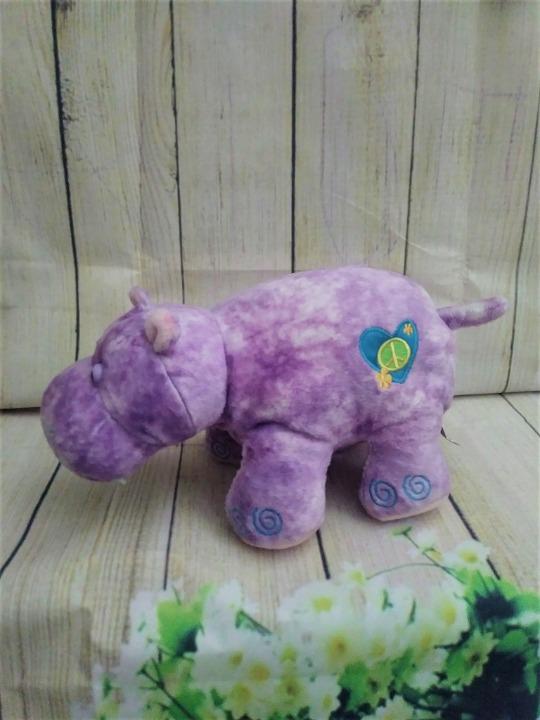 Webkinz Hippie Hippo Lavander Plush Mercari Buy Amp Sell